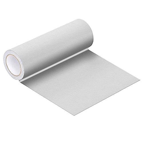 """Leather Repair Tape, Self-Adhesive Leather Patch for Couch, Car Seats, Handbags, Furniture, Jackets 16"""" X47"""" (White)"""