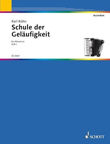 Schule der Geläufigkeit: nach Etüden von Czerny, Bertini, Lemoine u.a.. Heft 1. Akkordeon.