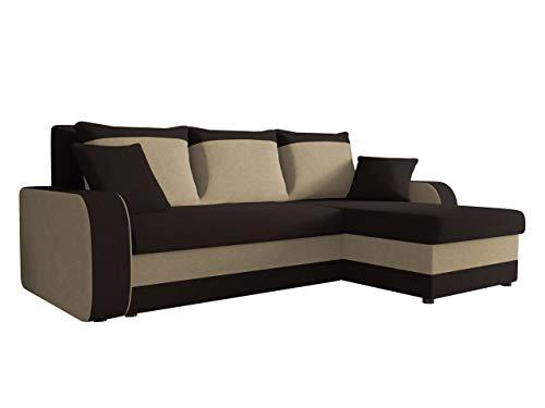 Ecksofa Kristofer, Design Eckcouch Couch! mit Schlaffunktion, Zwei Bettkasten, Farbauswahl, Wohnlandschaft! Bettfunktion! L-Form Sofa! Seite Universal! (Alova 68 + Alova 07.)