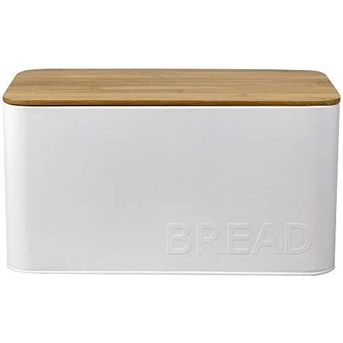 Home Basics CS41438 Bread Box, 13.30x7.50x6.97, White
