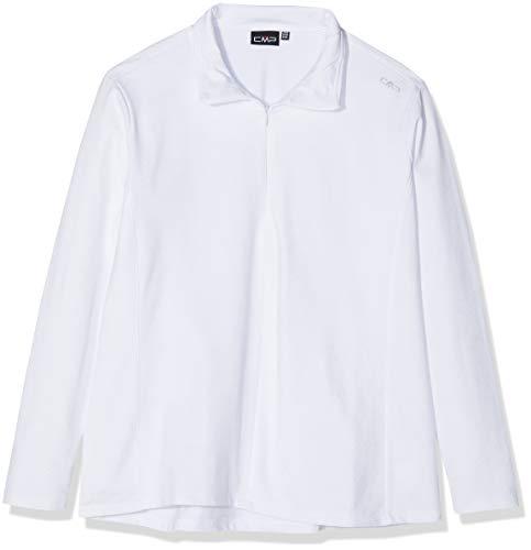 CMP Fleece Sweat Femme, Bianco/Silver, 42
