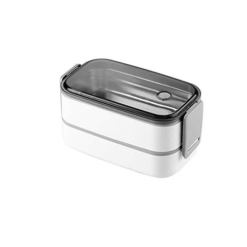 Cttiulifh Bento Box Mini stockage des aliments Boîte à lunch PP Container Bureau des étudiants Kid Micro-ondes Vaisselle Lunchbox (Color : White, Size : 2)