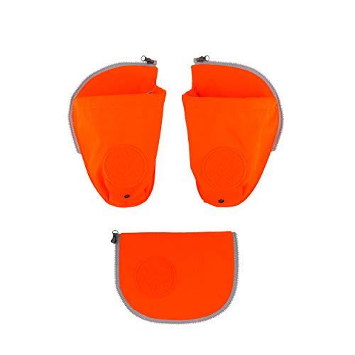 ergobag pack Seitentaschen Zip-Set - Seitentaschen-Set, 3-teilig - Orange - Orange