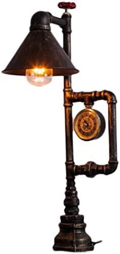 American Industrial Escritorio Lámparas Viento Vintage Steampunk Escritorio Retro Lámpara LED Escritorio Luz de Iron Piping Bar Mesa de Café Lámpara Interior Iluminación