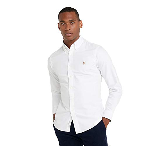 Ralph Lauren Camisa Oxford Slim Fit (L, Pure White)