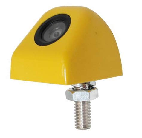 caracces バックカメラ 本体 ナンバープレート 取付可能 小型 純正タイプ 後付け 12V対応 CB906 (黄色)