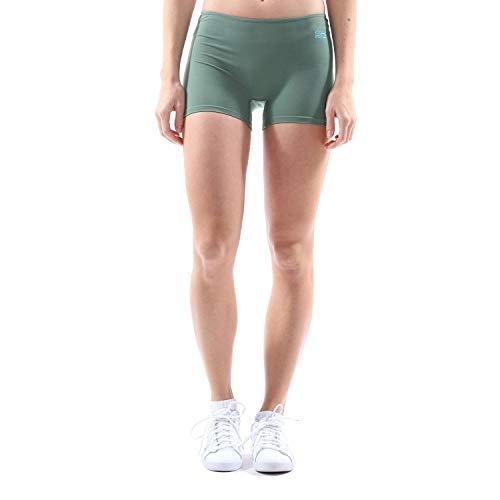 SPORTKIND - Pantalones Cortos de Tenis para Mujer y niña, Todo el año, Color Verde Oliva, tamaño 146
