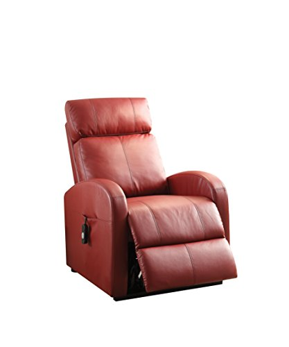 ACME Furniture Ricardo Recliner with Power Lift, Red PU