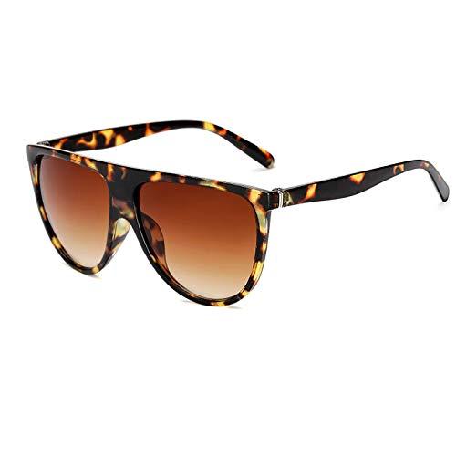 Único Gafas de Sol Sunglasses Gafas De Sol De Piloto con Parte Superior Plana para Mujer Escudo Degradado Gafas De Sol N