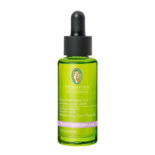 PRIMAVERA Feuchtigkeitspflege Make-Up Entferner und Gesichtspflegeöl 3 in 1 Neroli Cassis 30 ml - Naturkosmetik - normale bis trockene Haut - vegan