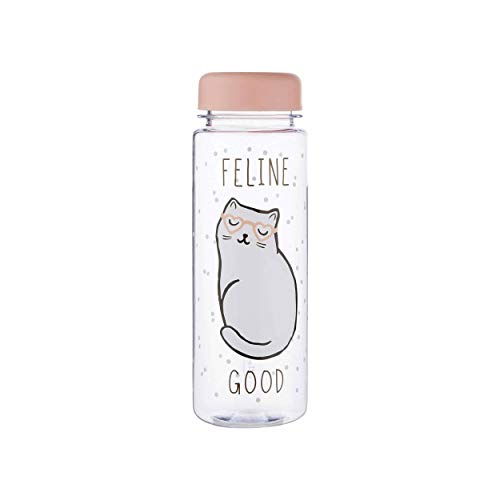 Maia Gifts Cutie Cat Feline Good Clear Water Bottle