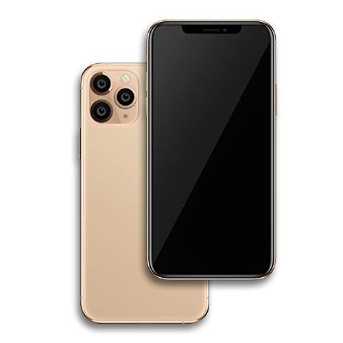 Raytonee Teléfono falso modelo metálico [2nd Gen] pantalla falsa réplica de teléfono móvil juguete para Phone X 10 (11ProMAX Gold Black)