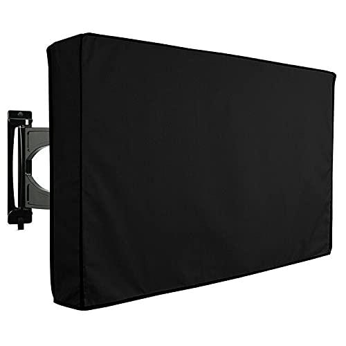 LANCYG TV Cubierta Protectora, Monitor Polvo Funda Cubierta de TV al Aire Libre Negro Agua y Cubierta Protectora Resistente Cubierta de Aparato de Montaje en Pared