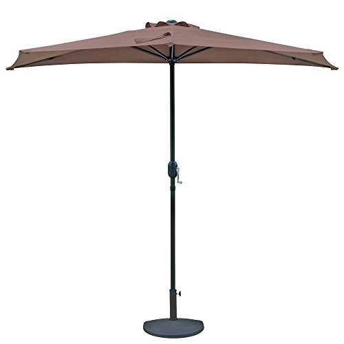 Island Umbrella NU5409CF Lanai Half Umbrella, 105' L x 52.5' W x 93.3' H, Coffee