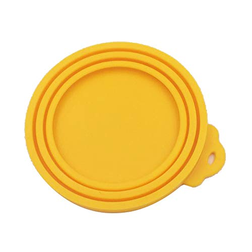 JKHK 3pcs Silicone Pet Can Covers,Sealed Feeders Food Can Lid for for Pet Food Cans Reusable Cover Lid