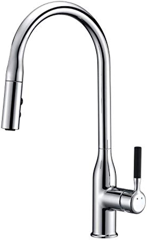 GFFXIXI 360°Drehbar Küchenarmatur Mit Herausziehbarem Ausziehbar Brause Küche Spültischarmatur Einhebelmischer Wasserhahn Mischbatterie Spülbecken Armatur