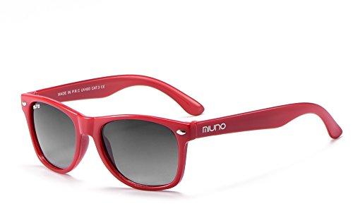 Miuno® Kinder Sonnenbrille für Jungen und Mädchen Etui 2688 (Rot)