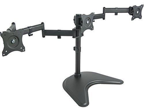 VIVO Triple Monitor Mount Fully Adjustable Desk Free Stand for 3 LCD Screens up to 24 inches STAND-V003P