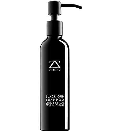 ZOUSZ Shampoo - Shampoo Premium Purificante all Oud Nero, Shampoo Quotidiano Vitalizzante e Nutriente, Per Capelli e Barba, Contiene Ingredienti Naturali e Biologici, Senza SLS, Parabeni e Silicone