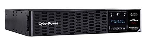 CyberPower PR1500RTXL2UN Smart App Sinewave UPS System, 1500VA/1500W, 8 Outlets, 2U Rack/Tower, RMCARD205 Pre-Installed, EBM Option