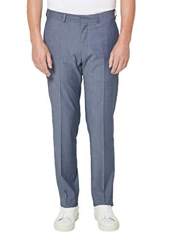 s.Oliver BLACK LABEL Herren 02.899.73.4497 Anzughose, Light Blue Melange, 46 (Herstellergröße: 90)