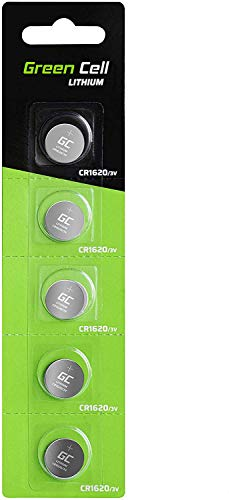 Green Cell CR1620 Lithium Knopfzellen 3V Lithiumbatterie Batterie in Original Blisterverpackung 5er Pack (Batterien einzeln entnehmbar)