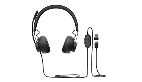 Logitech Zone Wired UC Headset Head-Band Black Zone Wired, W125821775 (Head-Band Black Zone Wired UC, Headset, Head-Band, Office/Call Center, Black, Binaural, Button)