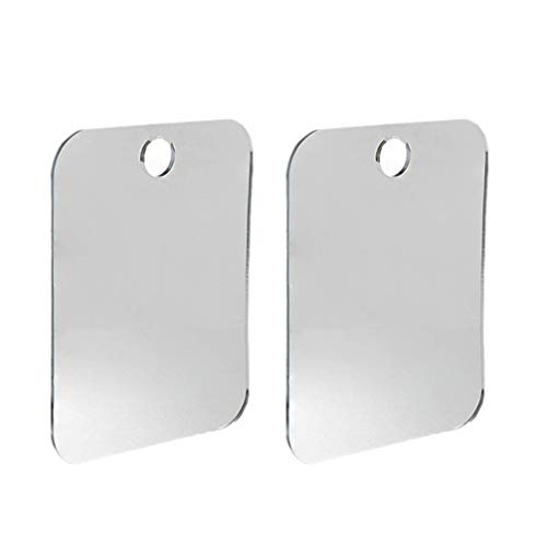 Lurrose 2Pcs Doccia Specchi Anti- Fog Rasatura Specchi Portatile Appeso A Parete Specchio per Il Trucco per Il Bagno Camera da Letto