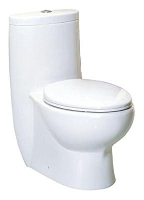 Whitehaus WHMFL3309-EB-WH haus High Efficiency Toilet