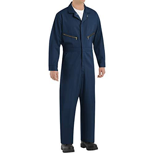 Red Kap Men's Zip-Front Cotton Coverall, Navy, 48