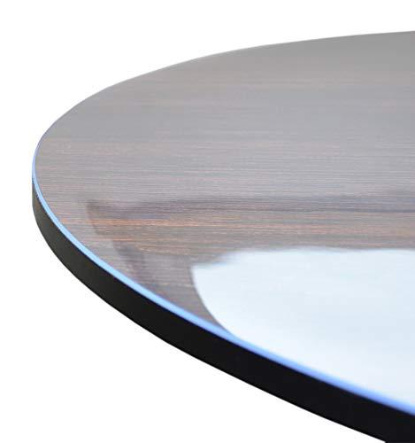 VioLife Tischdecke Tischfolie Tischschutzfolie Transparente PVC Folie Schutzfolie RUND Glasklar 2mm Made in Germany neu im Sortiment (abgeschrägte Kanten, Ø 80 cm)