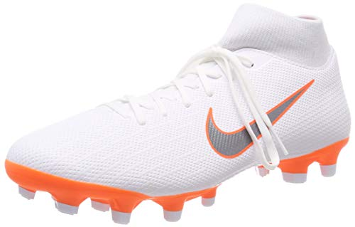 Nike Unisex-Kinder Mercurial Superfly 6 GS MG Junior Fußballschuhe, Weiß (White/Chrome-Total O 107), 35.5 EU