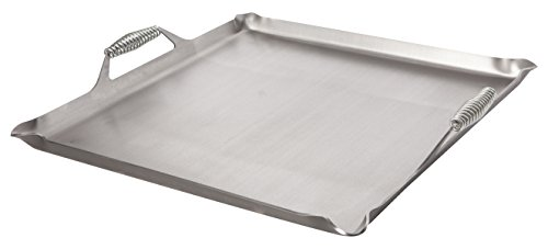 "Rocky Mountain Cookware Master Chef 7 Gauge Steel Griddle, 24"" x 24"", Metal"