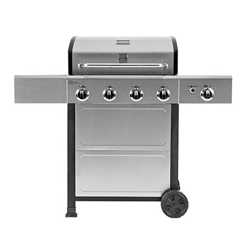 Kenmore PG-40406SOL-SE-AM 4 Open Cart Grill with Side Burner, Stainless Steel
