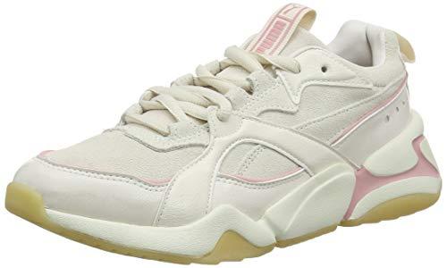 PUMA Nova 2 Suede Wn's, Zapatillas Deportivas para Mujer, Rosa (Pastel Parchment-Whisper White), 38 EU