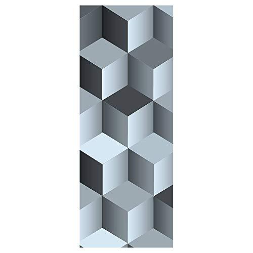 NSDX Pegatinas De Puerta Creative Art Rubik'S Cube 3D Door Stickers para Sala De Estar Dormitorio PVC Autoadhesivo DIY Impermeable Mural Decoración para El Hogar Tatuajes