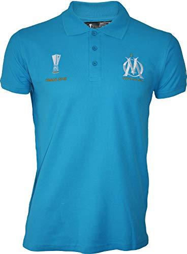 OM - Polo da adulto da uomo della squadra di calcio Olympique de Marseille, collezione ufficiale, blu, S