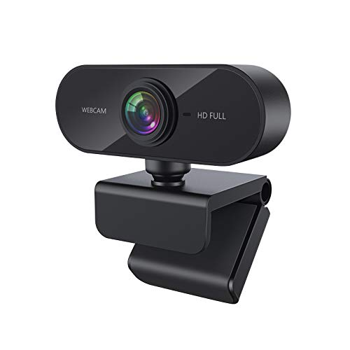 Webcam with Microphone, 1080P HD Web Cameras for Desktop, Computer Camera for Network Teaching/Videoconferencing/Webcast/Calling/Gaming (1080P)
