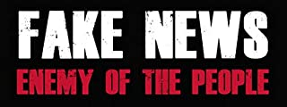 Fake News Enemy of The People Bumper Sticker (President Anti Trump)