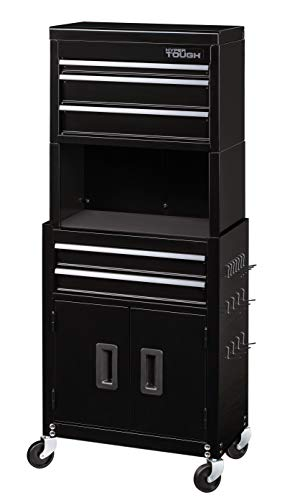 Hyper Tough 20-In 5-Drawer Rolling Tool Chest & Cabinet Combo w/Riser