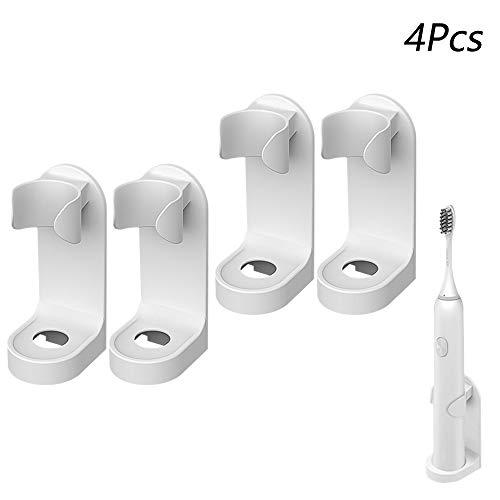 FYSL 4 Stück Selbstklebende Elektrischer Zahnbürstenhalter Elektrische Zahnbürste Wandhalterung Creative Traceless Stand Rack Zahnbürstenhalter für Bad Küche Ohne Bohren