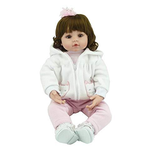 WYZQ 55cm Silicona Bebe Vinilo Bebé Reborn Muñecas para niñas pequeñas Adorable Chucky Hecho a Mano Niños Princesa Juguetes Juguetes para niños para niños de 3 años o más Juguetes para criar muñecas