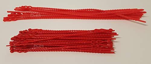 Blitzbinder - Kugelbinder - Mehrzweckbinder - Kabelbinder - Set - 320mm Rot 10Stck. + 180mm Rot 40Stck. - Premiumqualität von PC24 Shop & Service