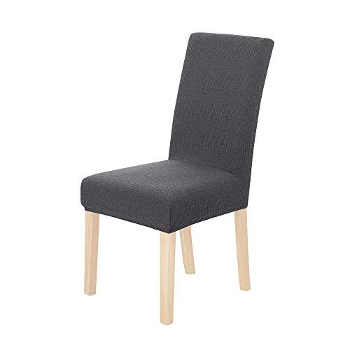 UMI. by Amazon 2 Stück Elastische Stuhlabdeckung Beschützer Stuhlhussen Stuhlüberzug 46x46x60 cm Grau