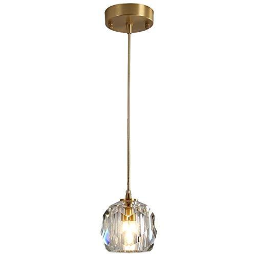 Lámpara El cristal claro Restaurante Cafetería Cocina lámpara colgante cable ajustable G9 110-220V Inicio Lámpara de suspensión wall light (Body Color : 1 Light)