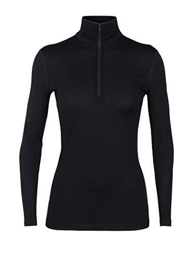 Icebreaker Damen 200 Oasis Langarm halber Reißverschluss, Damen, 200 Oasis Long Sleeve Half Zip, schwarz, Medium