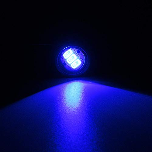 Motorrad-Lichter, 2 Stück, LED, Hawkeye, konstante Spiegelhalterung, Adler-Auge, Tagfahrlicht (Farbe: Blau)