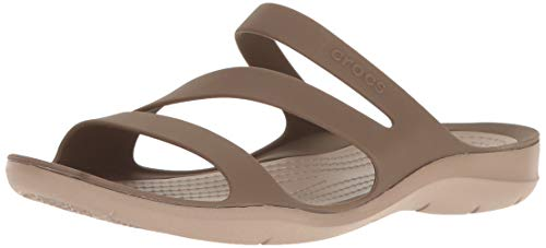 Crocs Women's Swiftwater Sandal Sport, Walnut, 7 M US