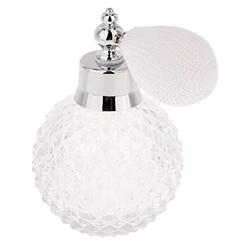 Perfume Vintage Botella de Cristal Spray Atomizador Botella de Vidrio 100ml Señora Regalo Blanco
