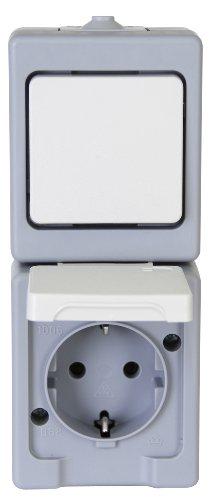 Kopp 130148003 Kombination Senkrecht Schalter Aufputz-Feuchtraum Standard